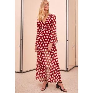 NWT C/MEO COLLECTIVE Polka dot unending Dress